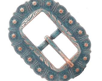"""Engraved Bridle Buckle Copper 3/4"""" 7851-90"""