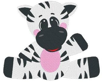 Zebra Machine Embroidery Design 024615 Safari Animal Filled stitch 4X4 5X7 8X8 6X10 Instant download