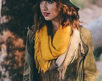 Hollander - chunky scarf, Infinity Scarf, boho scarf, warm scarf, winter accessories, knit scarf,