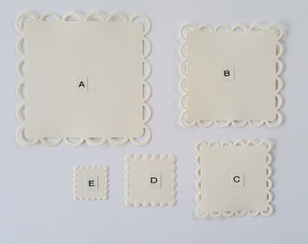 Lacy Square Die Cuts