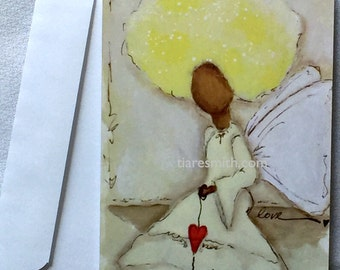 Love Freely Angel Notecard