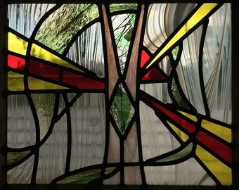 Bravery: Abstract Series Stained Glass Panel