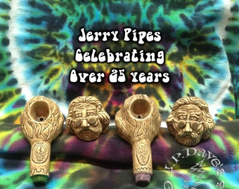 Ceramic Jerry Garcia Pipe Hand Made for over 25 Years