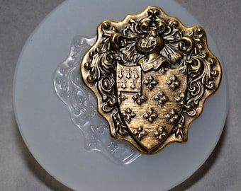 Royal Shield Knight SILICONE MOULD - resin, clay, fimo, sugarcraft MOLD ornament food use mold