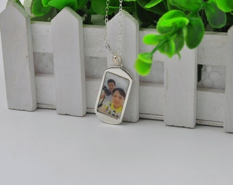 Photo Necklace, Custom Photo Jewelry, Photo Pendant, Personalized Keepsake Jewelry