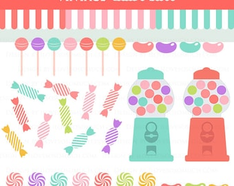Candy Shop / Candy Clip Art - Instant  Download - CA068