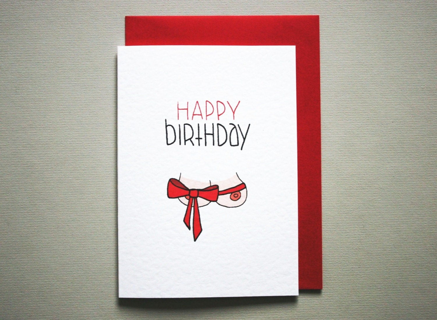 Funny happy birthday card boyfriend naughty birthday card