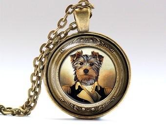 Animal jewelry Dog necklace Victorian pendant RO930