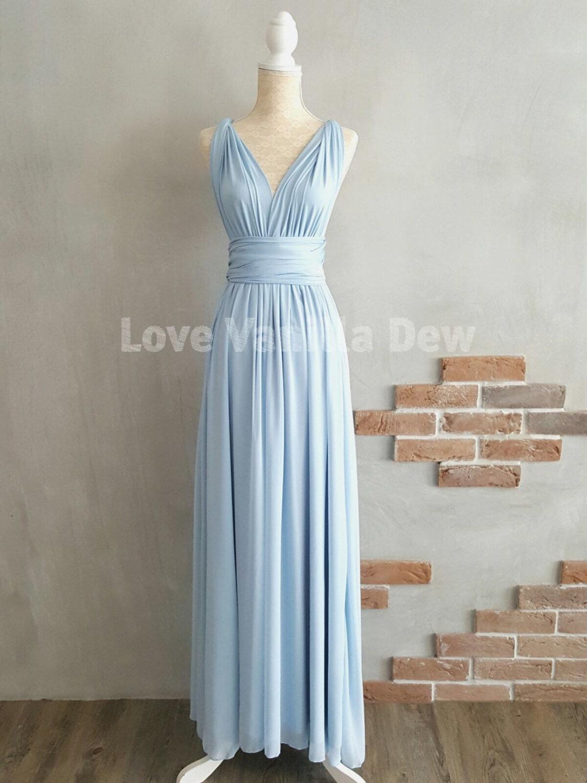 Bridesmaid dress infinity dress powder blue with chiffon zoom ombrellifo Gallery