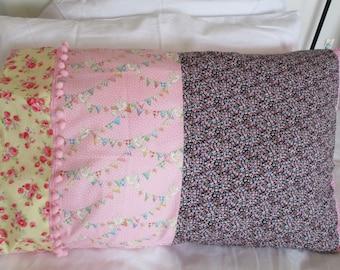 Pillowcases, Sleepover pillowcase, girls pillowcase, chintzy pillowcase, floral pillowcase, individual, Personalised, carrycase, handmade