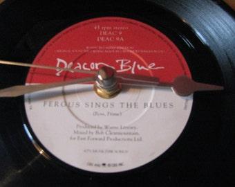 "Deacon Blue fergus sings the blues   7"" vinyl record clock"