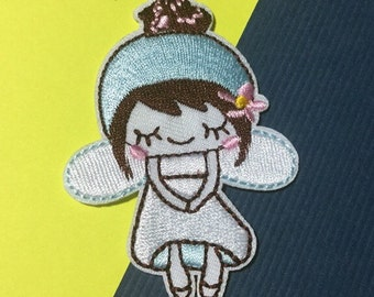 Iron on Sew on Patch:  Blue Fairy