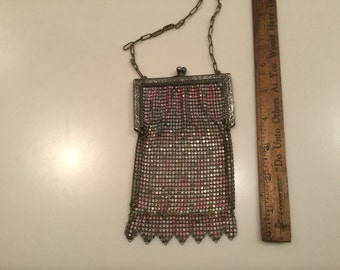 Sterling mesh purse