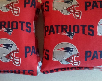 New England PATRIOTS Cornhole Bags regulation size and weight