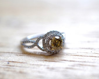 0.89 Carats Chocolate Diamond Engagement Ring