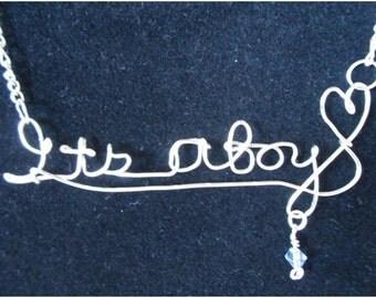 ITS A BOY  Necklace
