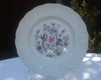 Royal Cauldon Bristol Ironstone Collector Plate, Exotic/Oriental Bird and Flowers