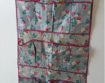 Vintage Cotton Shoe Bag Organizer 12 Pockets