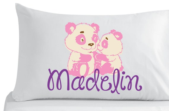 Cute Tumblr Pillows Etsy : Items similar to Personalized, pillow case, cute little bears- bedroom decor- nursery decor ...
