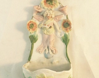 Holy Water Font With Angel And Sunflowers