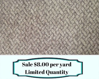 FABRIC SALE!!! Textured Gray ZigZag Fabric - Upholstery Fabric By The Yard