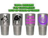 Items Similar To Yeti Cup Stickers Can Customize