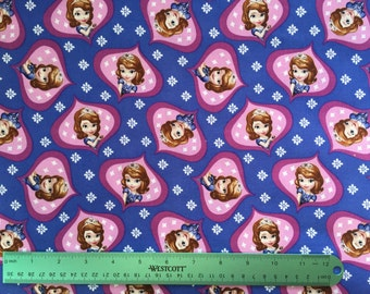 Sofia the First cotton  Fabric