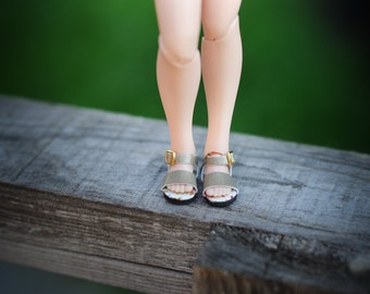 Blythe faux leather golden sandals  - blythe shoes  from BlablaBlythe