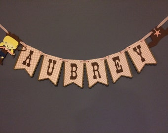 Cowgirl Name Banner