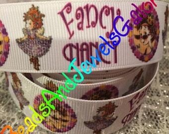 Fancy Nancy inspired 1 inch grosgrain ribbon