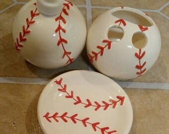 Baseball, basketball, soccer, football, sports bathroom sets