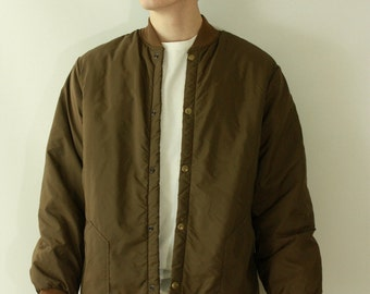 1980' Cabela's Men's Vintage Brown Puffer Button Up Jacket / Vintage 80's Lumber Jack Puffer Size X-Large Cabela's Button Down Jacket