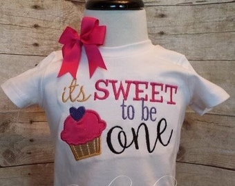 Sweet to be One First Birthday Shirt