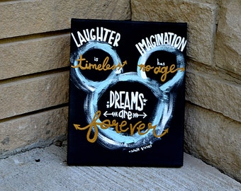 "Disney ""Laughter is Timeless, Imagination Has No Age, Dreams are Forever"" Canvas"