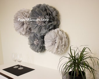 3D decorations - Tissue Paper Flowers set of 6 (3/3) -  Huge Paper Blooms - Baby shower - Birthday decorations - Backdrop wallpaper
