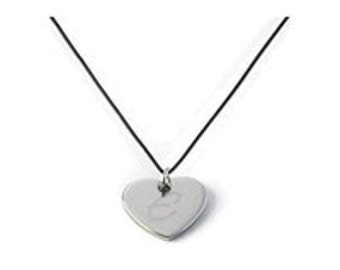 Personalized Heart Pendant Necklace  (GC292)