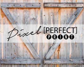 """4ft x 4ft """"Rustic Barn Doors"""" Vinyl Backdrop // Vinyl Backdrops // Vinyl Photography Backdrop // Barn Backdrop // Door Backdrop (PP665)"""