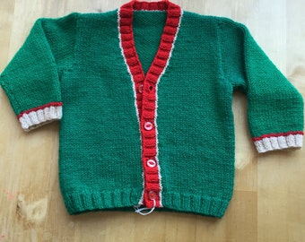 Hand knitted V neck Cardigan Size 20