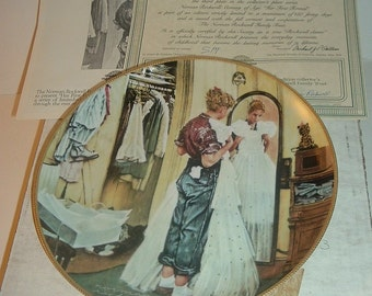 1990 Knowles Norman Rockwell Her First Formal Coming of Age Plate w/ COA