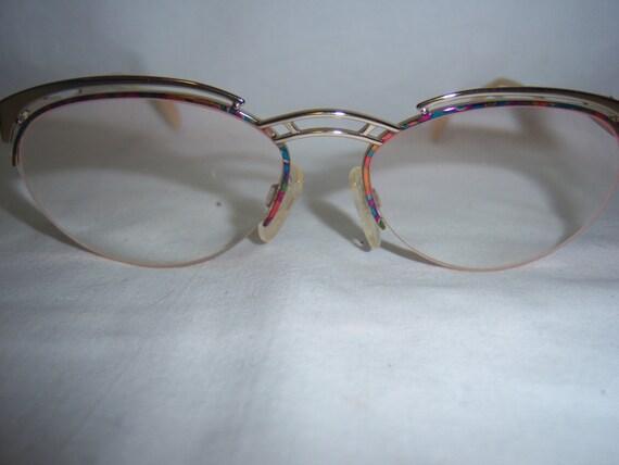 Gold Coloured Glasses Frames : Vintage MULTI Color Frame Gold TOne CHRISTIAN DIOR Glasses