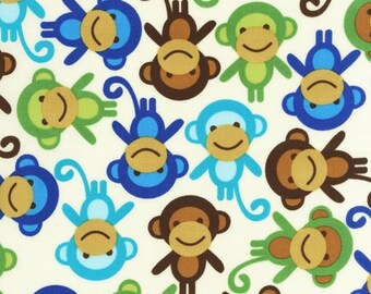 Ann Kelle Urban Zoologie Monkeys Royal (Half metre)