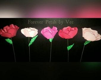 Handmade Paper Roses **Valentine's Day/Birthday/Anniversary Gift**