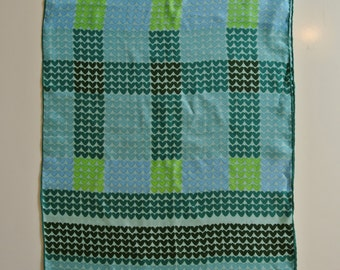 "ECHO Shawl Scarf Wrap Size: 15""x 46"" Women's Hearts Blue Green A121"