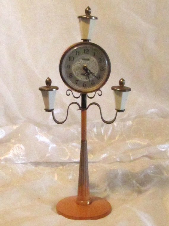 Novelty Lamp Posts : Items similar to Citizen Novelty Clock, Lamp Post Clock, Atomic Novelty Clock, Home Decor, Watch ...