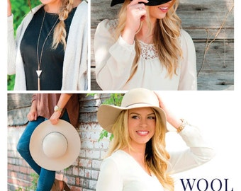 Wool Floppy Hat - Fall Favorite, Gifts, Personalized, Monogram, Hat