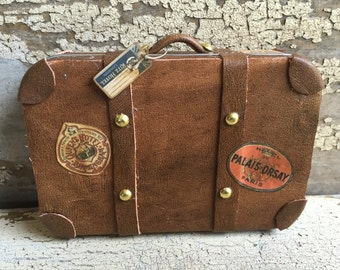 Miniature Luggage, Suitcase, Bag - Vintage Brown