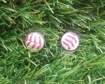 Baseball Stud Earrings- Classic