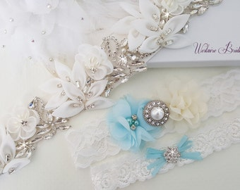 Wedding Accessories, Bridal Accessories, Bridal Belt, Bridal Garter Set