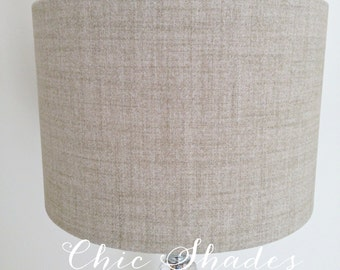 Natural Soft Faux Wool Fabric Lampshade