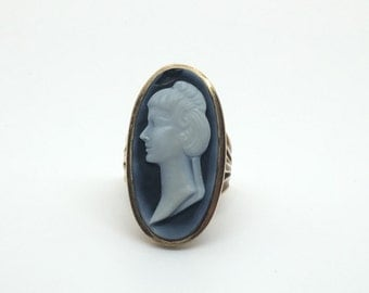 Vintage 9ct Cameo Ring
